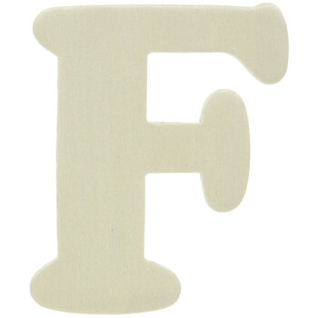 """Wood Letters F - 4"""""""