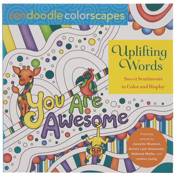 Zendoodle Uplifting Words Coloring Book