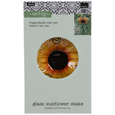Sunflower Glass Garden Stake