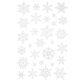 White Glitter Snowflake Stickers