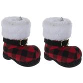 Red & Black Buffalo Check Boot Ornaments