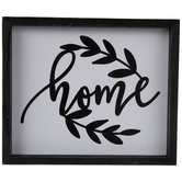 Home With Leaves Wood Wall Decor