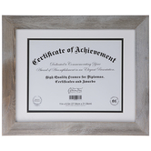 "Gray Barnwood Document Frame - 11"" x 8 1/2"""
