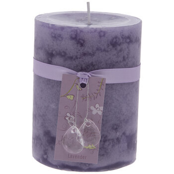 "Lavender Pillar Candle - 3"" x 4"""