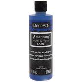 Cobalt DecoArt Multi-Surface Acrylic Paint - 8 Ounce