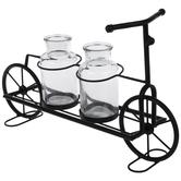 Metal Bicycle With Vases