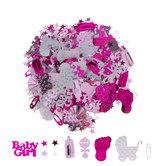 Pink & White It's A Girl Confetti