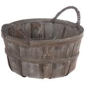 Dark Brown Bushel Basket