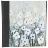 White Painted Flowers Photo Album