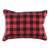Red & Black Buffalo Check Pillow
