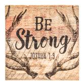 Joshua 1:9 Wood Magnet