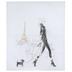 Woman Walking Dog In Paris Canvas Wall Decor