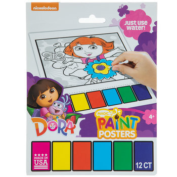 Dora The Explorer Magic Paint Poster Book