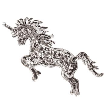 Unicorn Rhinestone Brooch