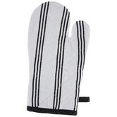 Black & White Striped Oven Mitt