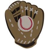 Baseball Glove Painted Wood Shape