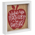 Teach Kids Be Awesome Apple Wood Wall Decor