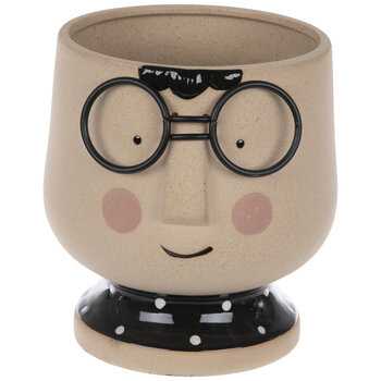Face With Glasses Planter