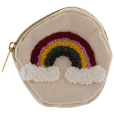 Fuzzy Rainbow Coin Purse
