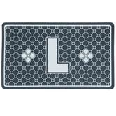 Gray Geometric Tiles Letter Doormat - L
