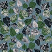 Animal Print Leaves Duck Cloth Fabric