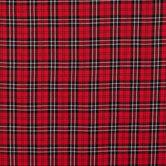 Red & Black Plaid Cotton Fabric