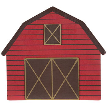 Red Barn Painted Wood Shape
