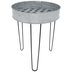 Galvanized Metal Tray With Stand - Large