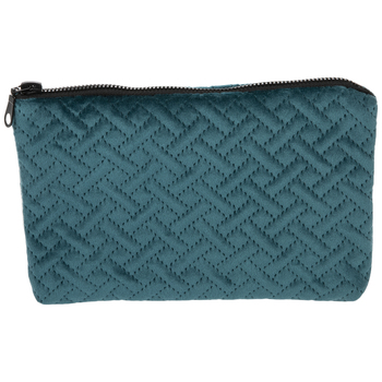 Dark Turquoise Suede Pouch