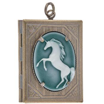 Unicorn Cameo Locket
