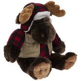 Buffalo Check Moose Plush