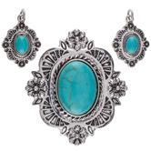 Turquoise Concho Pendants
