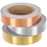 Gold, Silver & Copper Foil Washi Tape