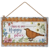Happy Place Metal Wall Decor