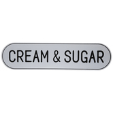 Cream & Sugar Metal Sign