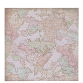 "Rose Gold Foil Map Scrapbook Paper - 12"" x 12"""