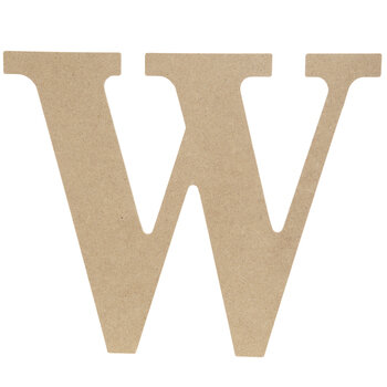 "Wood Letter W - 9 1/2"""