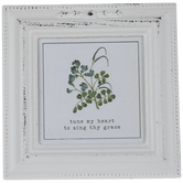 Tune My Heart Floral Wood Decor