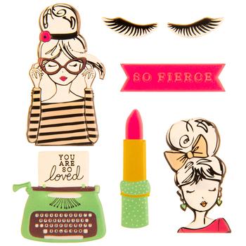 Girls Puffy Stickers