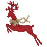 Red & Gold Glitter Reindeer