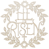 He Is Risen Wreath Wood Wall Decor