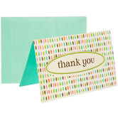 Teal With Dots Thank You Cards