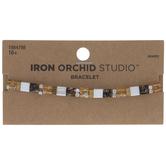 Brown Tile Bead Bracelet