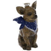 Chihuahua With Blue Scarf Teapot