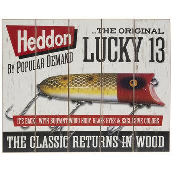 Heddon Lucky 13 Wood Wall Decor