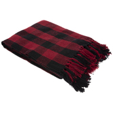 Red & Black Buffalo Check Throw Blanket