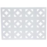 White Diamond Metal Placemat