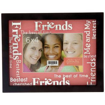 """Black & Pink Mat Friends Frame - 6"""" x 4"""""""