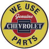 Genuine Chevrolet Parts Round Metal Sign