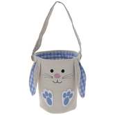Gingham Embroidered Bunny Bag